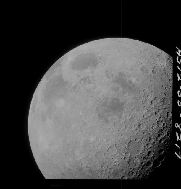 AS12-55-8217 - Apollo 12 - Apollo 12 Mission image  - High altitude, small scale nadir images taken near the Sea of Crisis (Mare Crisium)