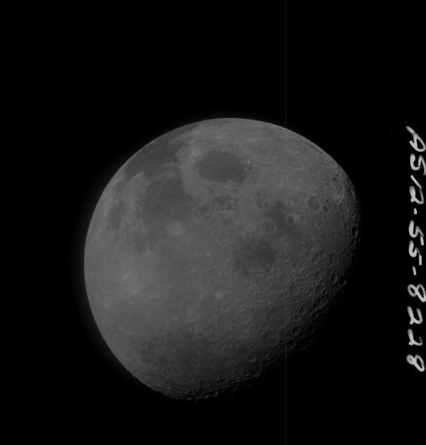 AS12-55-8228 - Apollo 12 - Apollo 12 Mission image  - High altitude, small scale nadir images taken near the Sea of Crisis (Mare Crisium)