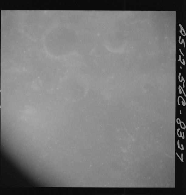 AS12-56C-8327 - Apollo 12 - Apollo 12 Mission image  - Beginning of Stereo Strip with Craters McClure and Theophilus visible