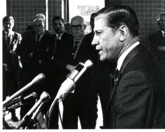 Announcement of Former Governor John A. Volpe's Death