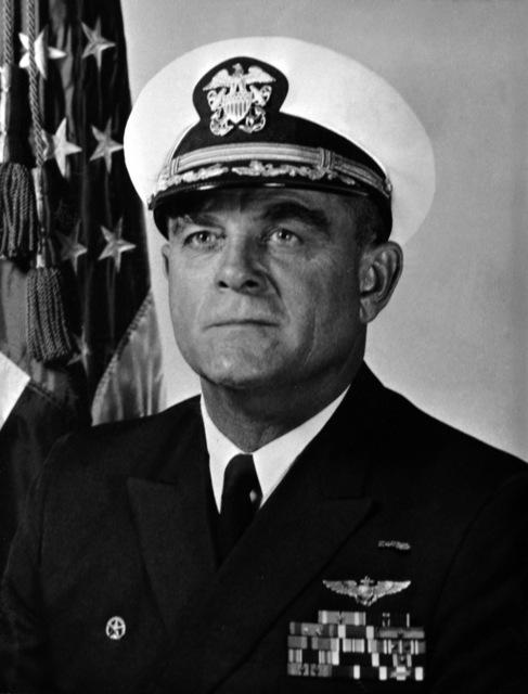 CAPT. Joseph L. Coleman, USN (covered) CO, USS RANGER (CV-61), 1970-1971