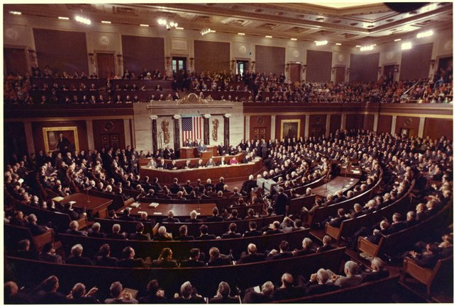 President Richard Nixon Giving His State of the Union Message before a Joint Session of Congress