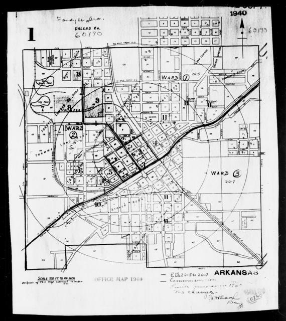 1940 Census Enumeration District Maps - Arkansas - Dallas County - Fordyce - ED 20-5, ED 20-6, ED 20-7