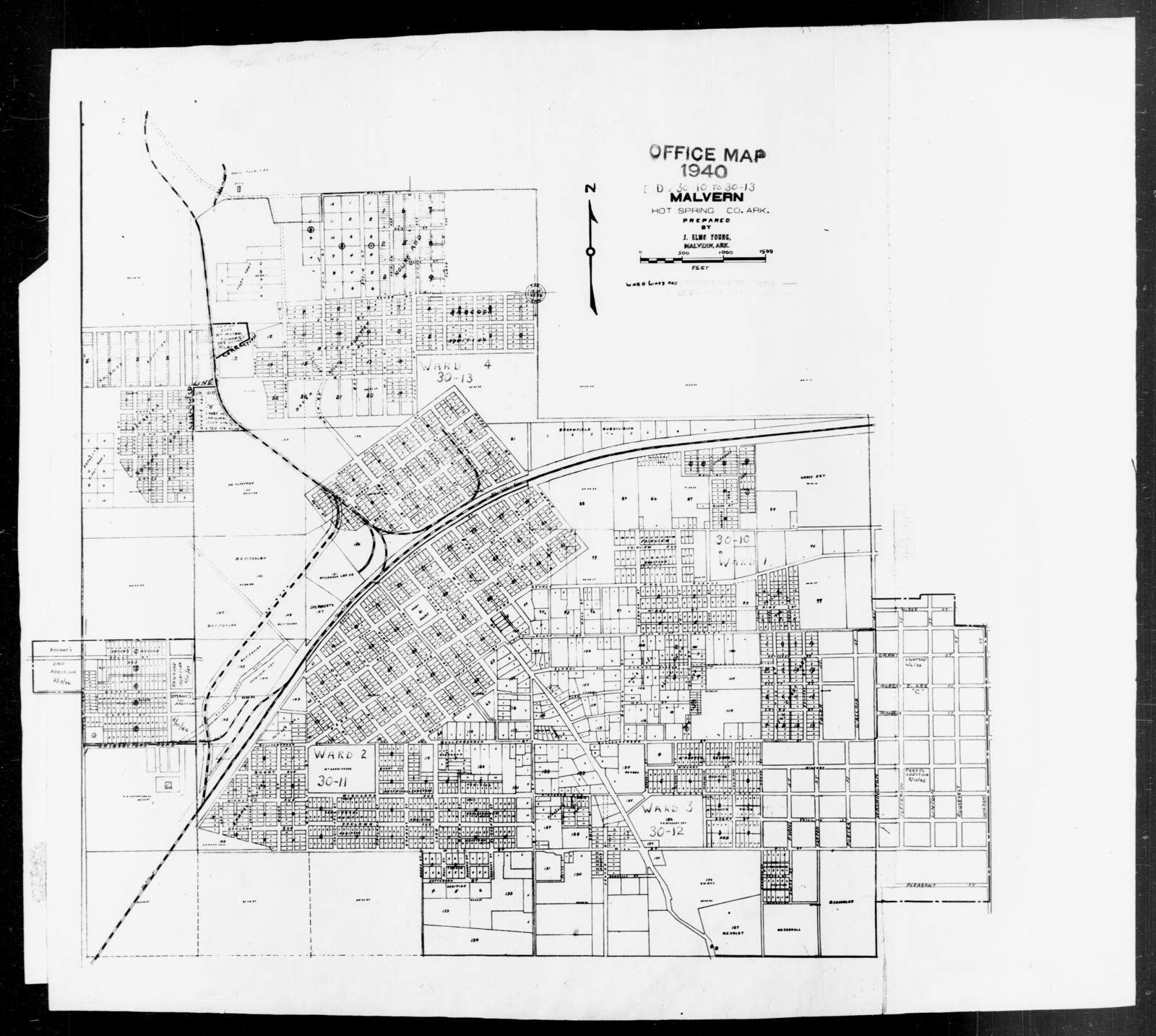 1940 Census Enumeration District Maps Arkansas Hot Spring County
