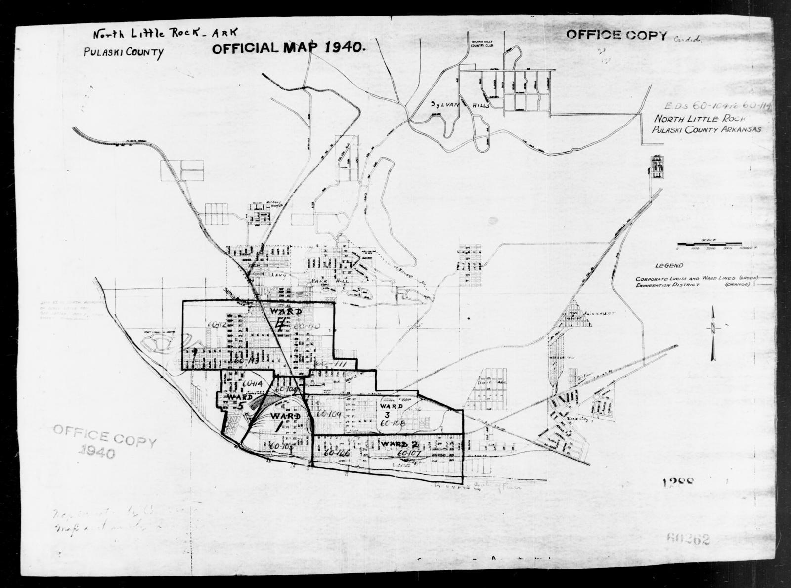 1940 Census Enumeration District Maps Arkansas Pulaski County