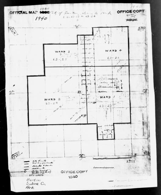 1940 Census Enumeration District Maps - Arkansas - Saline County - Benton - ED 63-23, ED 63-24, ED 63-25, ED 63-26