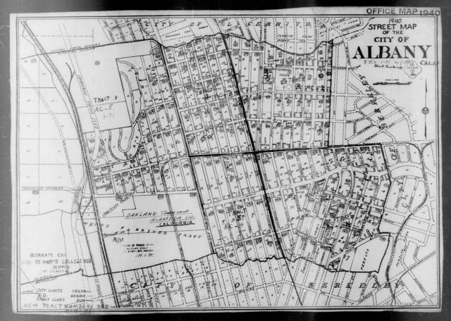1940 Census Enumeration District Maps - California - Alameda County - Albany - ED 1-71 - ED 1-80