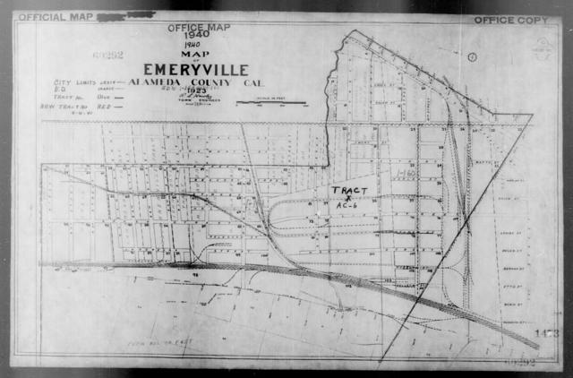 1940 Census Enumeration District Maps - California - Alameda County - Emeryville - ED 1-160, ED 1-161