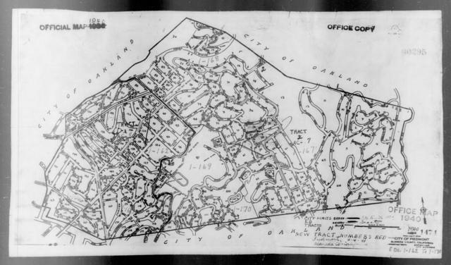 1940 Census Enumeration District Maps - California - Alameda County - Piedmont - ED 1-162 - ED 1-170