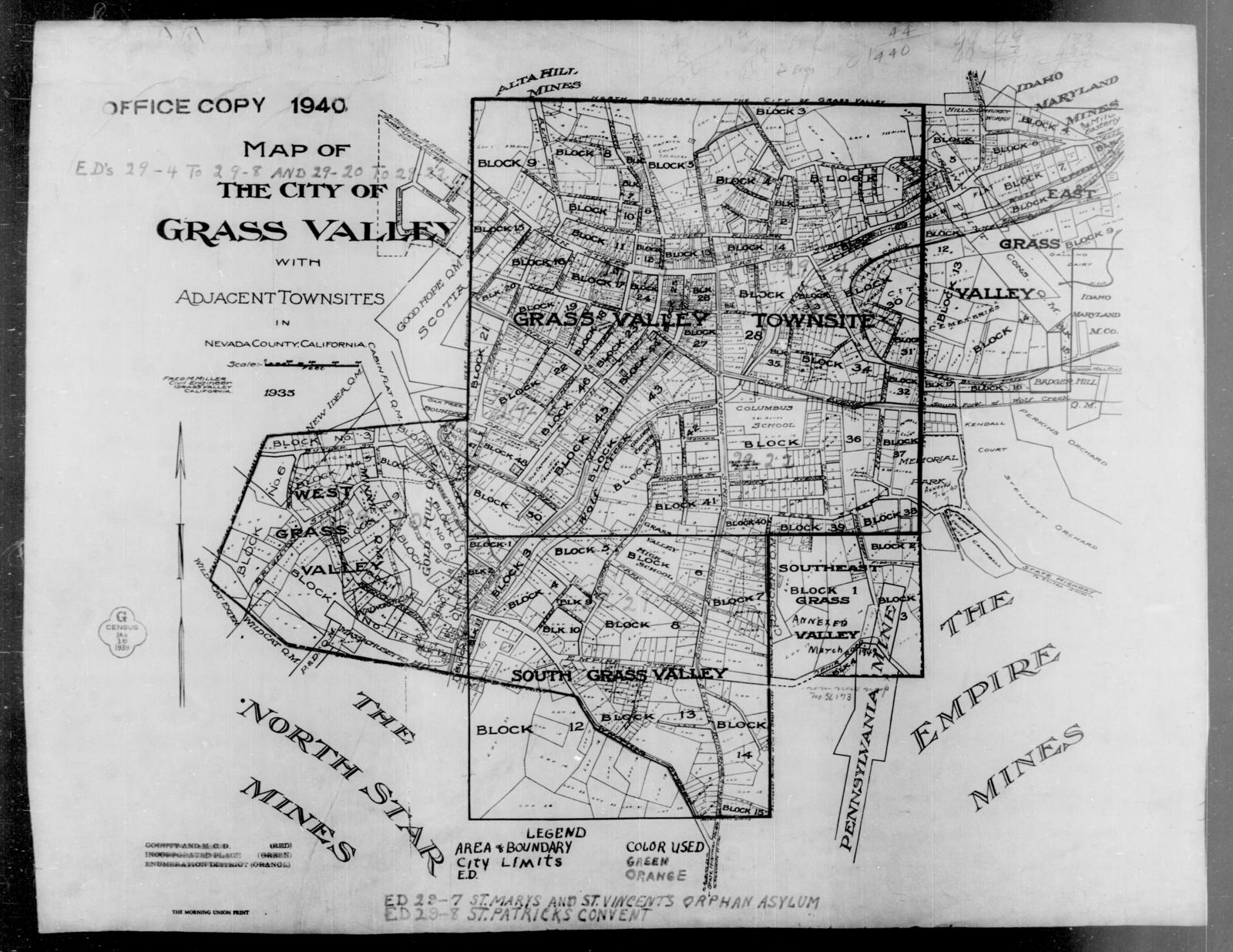 1940 Census Enumeration District Maps - California - Nevada ...