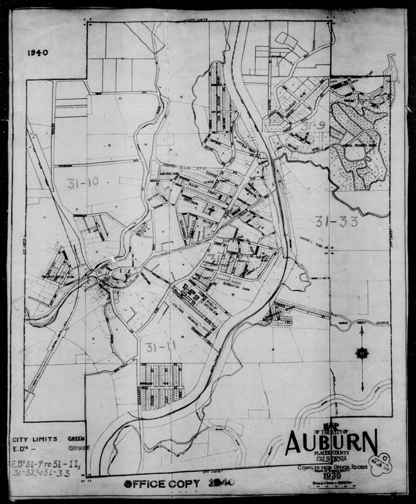 1940 Census Enumeration District Maps - California - Placer County ...