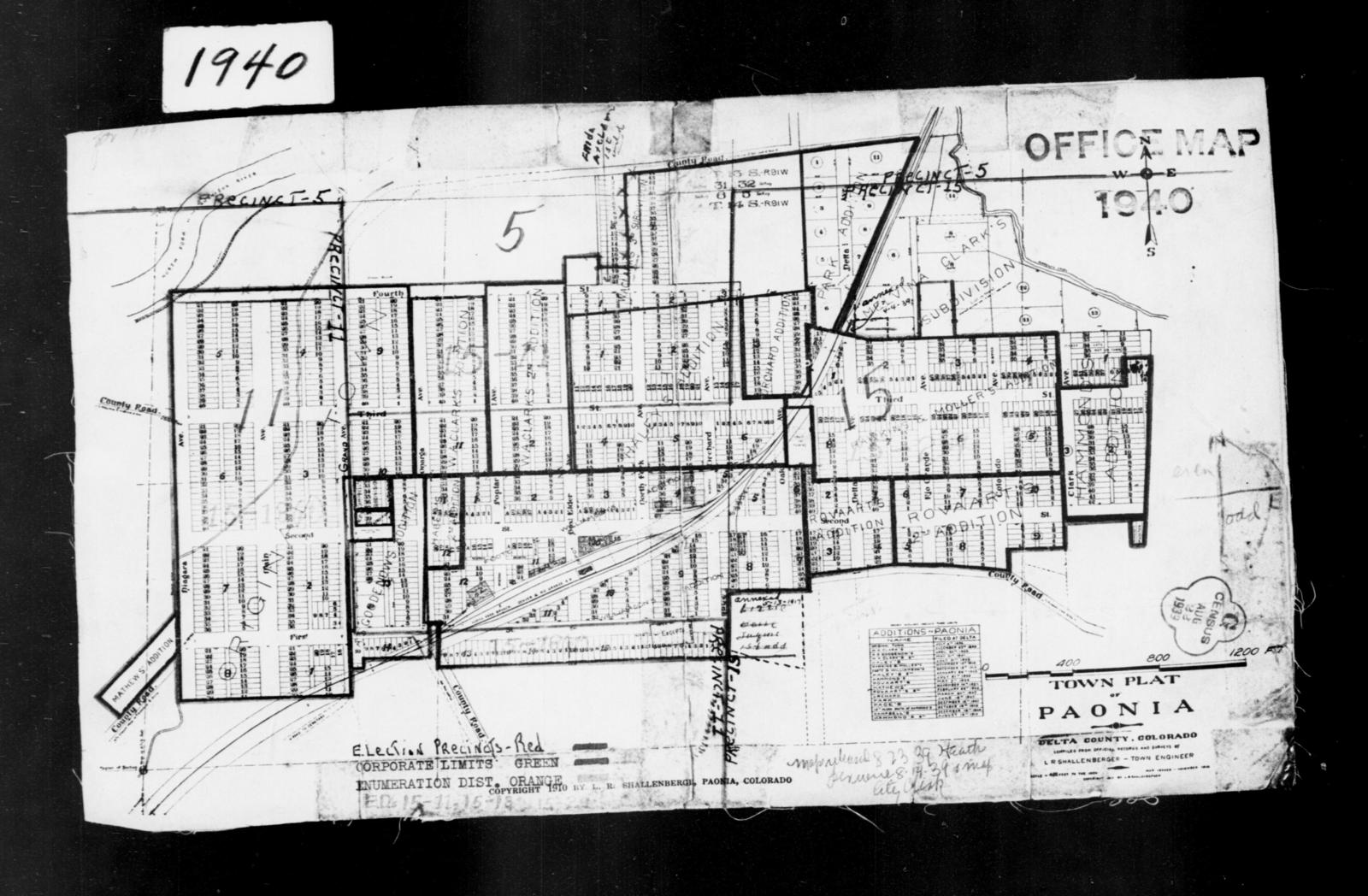 Delta County Colorado Map.1940 Census Enumeration District Maps Colorado Delta County