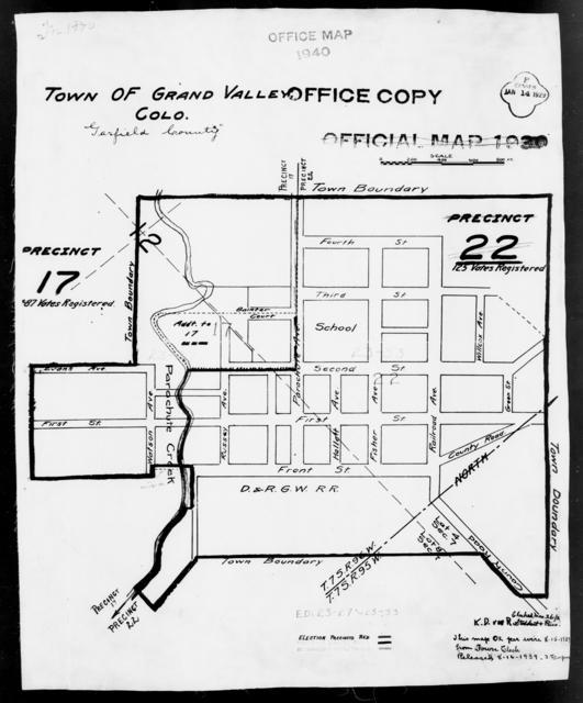 1940 Census Enumeration District Maps - Colorado - Garfield County - Grand Valley - ED 23-27, ED 23-33