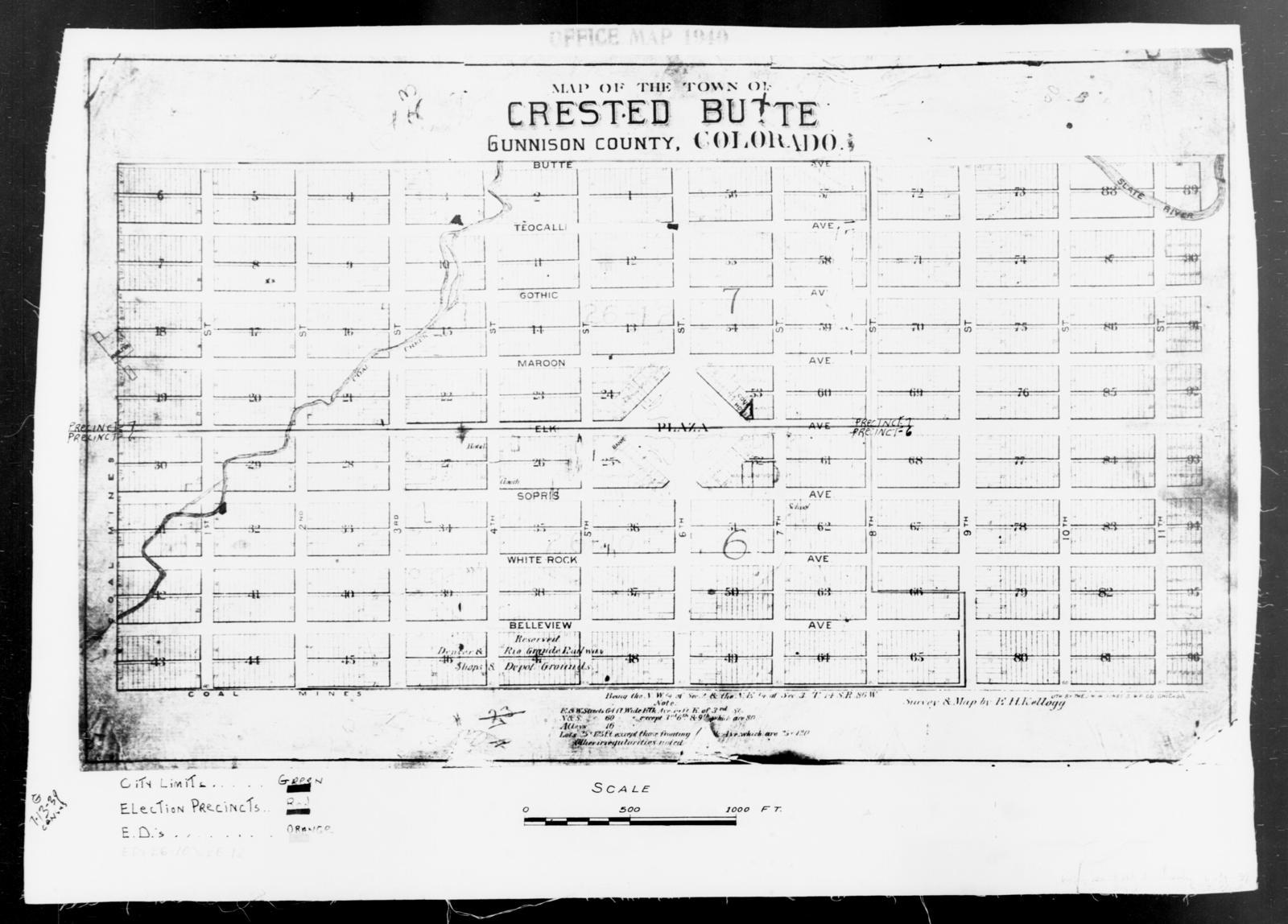 Gunnison County Colorado Map.1940 Census Enumeration District Maps Colorado Gunnison County