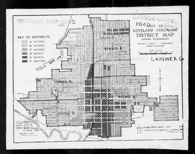1940 Census Enumeration District Maps - Colorado - Larimer County