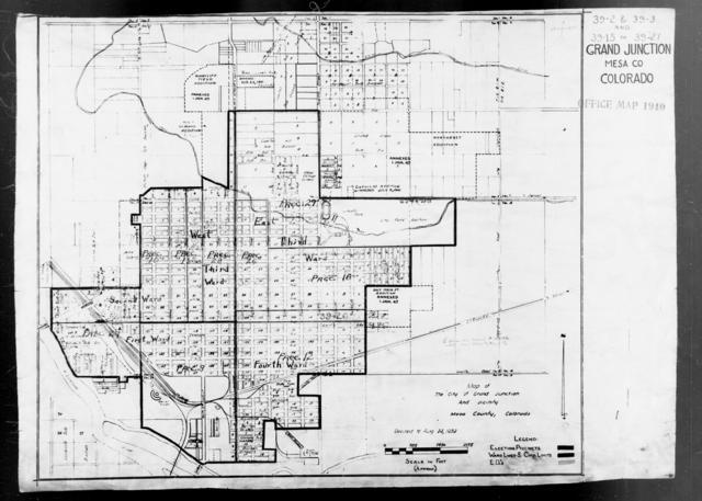 1940 Census Enumeration District Maps - Colorado - Mesa County - Grand Junction - ED 39-15 - ED 39-27