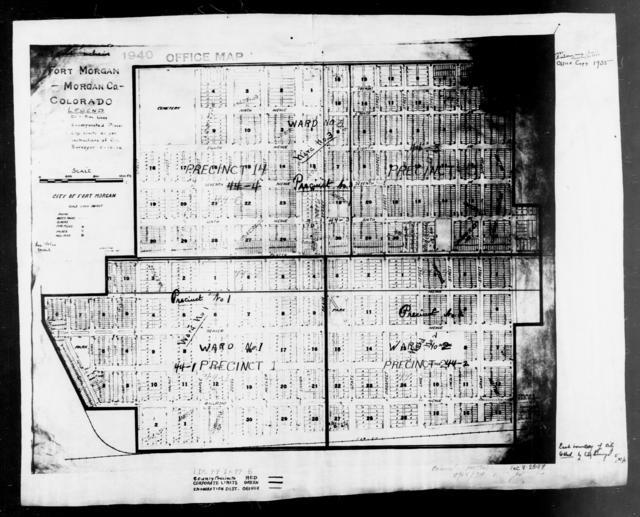 1940 Census Enumeration District Maps - Colorado - Morgan County - Fort Morgan - ED 44-1, ED 44-2, ED 44-3, ED 44-4, ED 44-5, ED 44-6