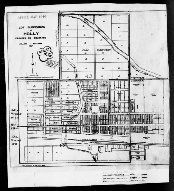 1940 Census Enumeration District Maps - Colorado - Prowers County - Holly - ED 50-4, ED 50-17