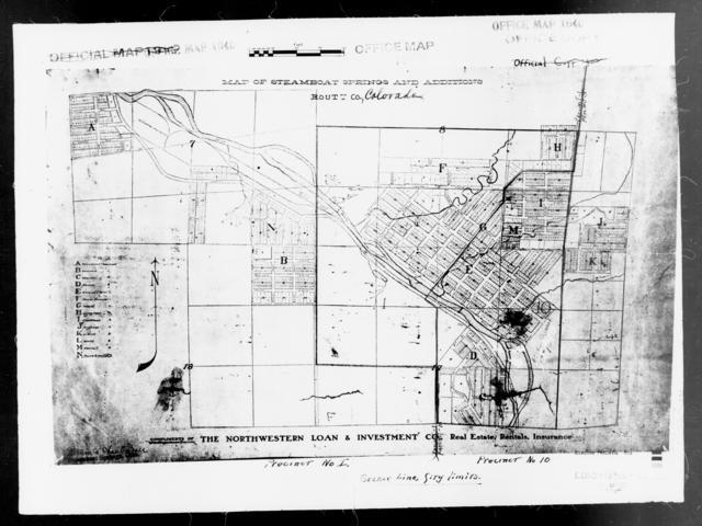 1940 Census Enumeration District Maps Colorado Routt County