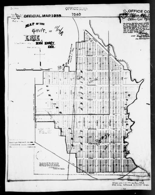 1940 Census Enumeration District Maps - Colorado - Weld County - Erie - ED 62-16, ED 62-51