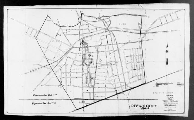 1940 Census Enumeration District Maps - Delaware - New Castle County - Newark - ED 2-28, ED 2-29, ED 2-30, ED 2-31, ED 2-32