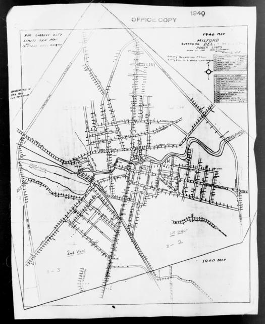 1940 Census Enumeration District Maps - Delaware - Sussex County - Milford - ED 3-2, ED 3-3