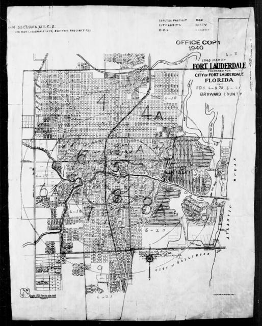 1940 Census Enumeration District Maps - Florida - Broward County - Fort Lauderdale - ED 6-8 - ED 6-21