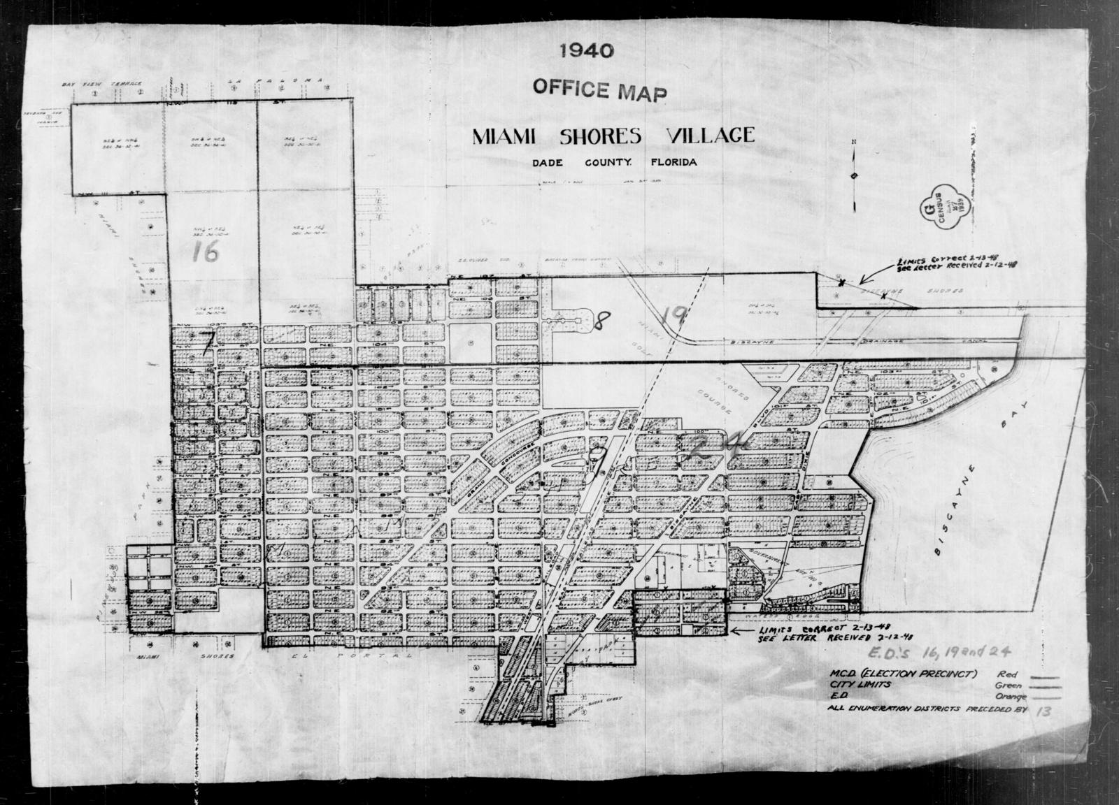 Us 19 Florida Map.1940 Census Enumeration District Maps Florida Dade County