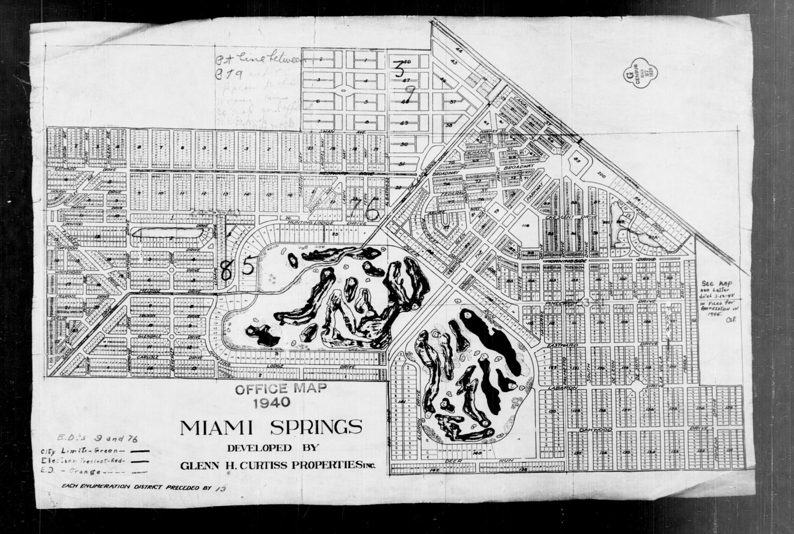 Miami Springs Florida Map.1940 Census Enumeration District Maps Florida Dade County