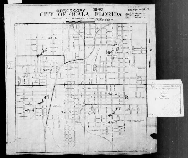 1940 Census Enumeration District Maps - Florida - Marion County - Ocala - ED 42-1, ED 42-2, ED 42-3, ED 42-4, ED 42-5, ED 42-6, ED 42-7