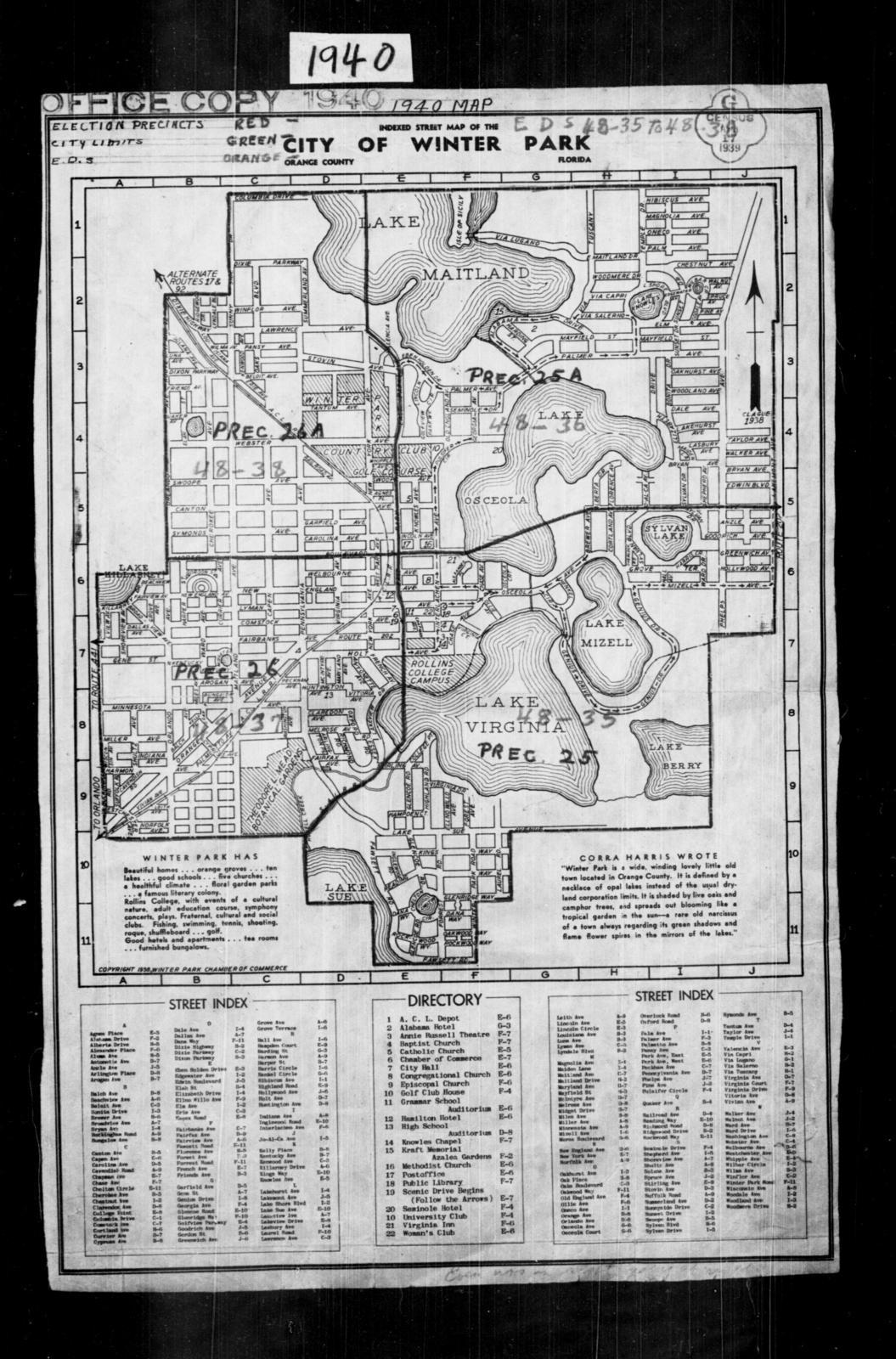 1940 Census Enumeration District Maps - Florida - Orange County ...