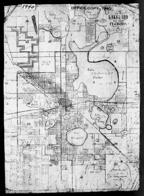 1940 Census Enumeration District Maps - Florida - Polk County - Lakeland - ED 53-18 - ED 53-33
