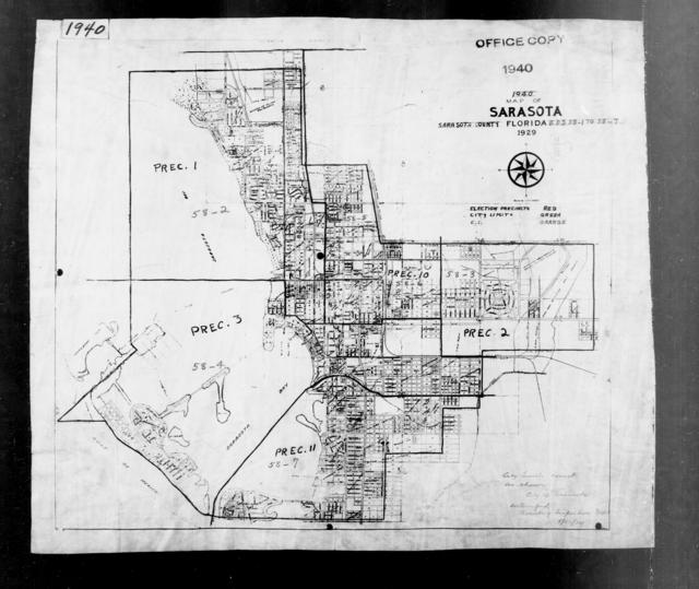 1940 Census Enumeration District Maps - Florida - Sarasota County - Sarasota - ED 58-1A - ED 58-7B