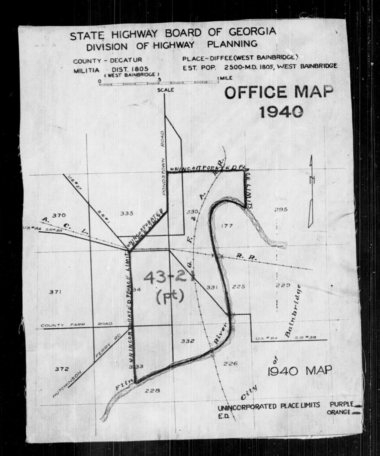 Map Of West Georgia.1940 Census Enumeration District Maps Georgia Decatur County