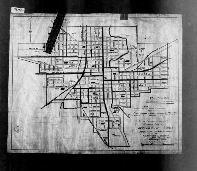 1940 Census Enumeration District Maps - Indiana - Clinton County - Frankfort - ED 12-1 - ED 12-13