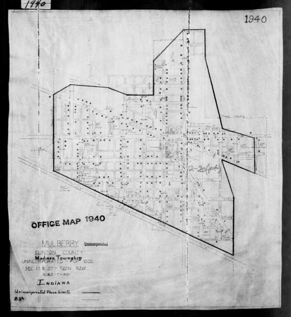 1940 Census Enumeration District Maps - Indiana - Clinton County - Mulberry - ED 12-20