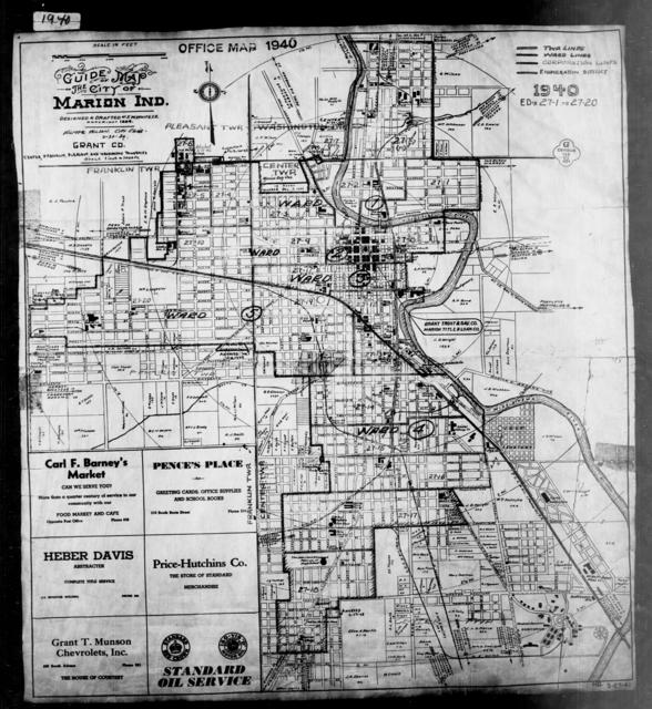 1940 Census Enumeration District Maps - Indiana - Grant County - Marion - ED 27-1 - ED 27-20