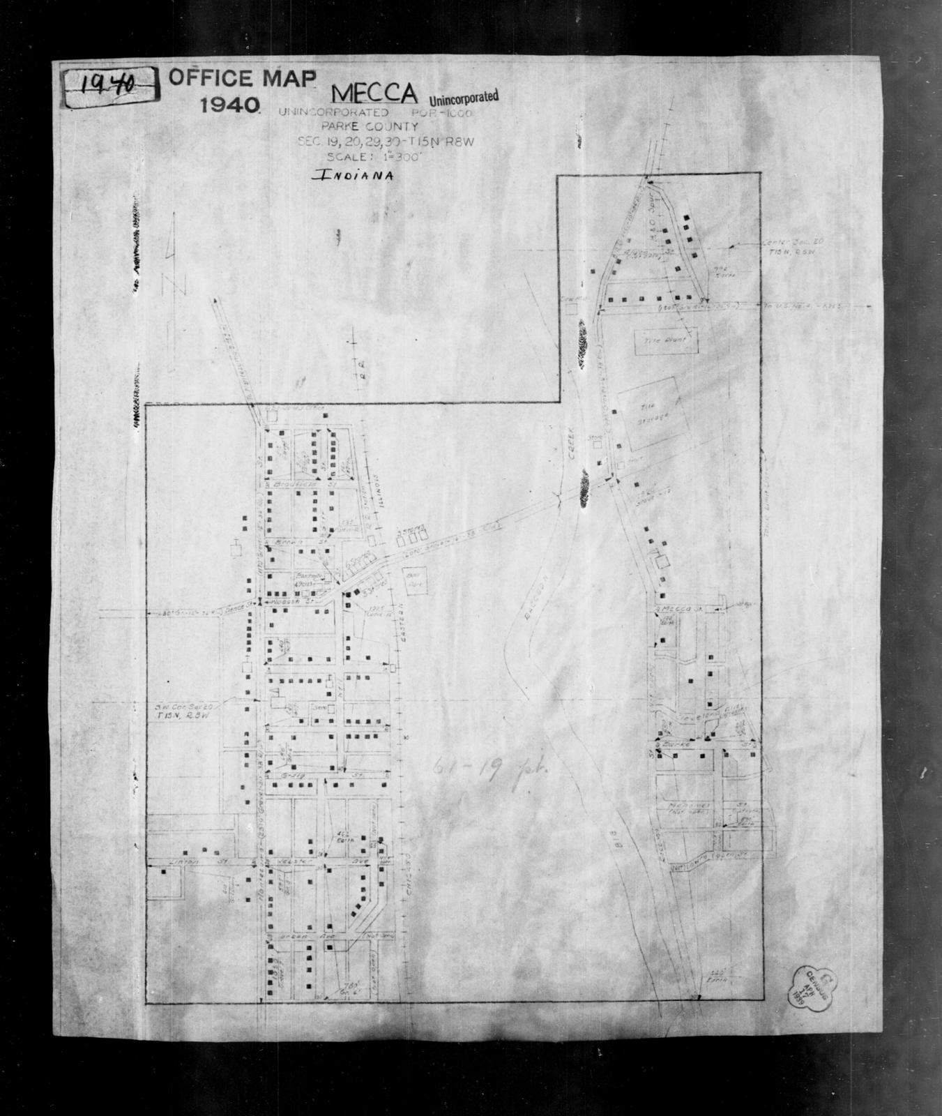 1940 Census Enumeration District Maps Indiana Parke County