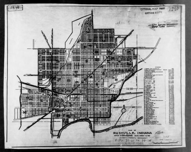 1940 Census Enumeration District Maps Indiana Rush County