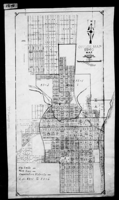 1940 Census Enumeration District Maps - Indiana - Vermillion County - Clinton - ED 83-1, ED 83-2, ED 83-3, ED 83-4, ED 83-5, ED 83-6
