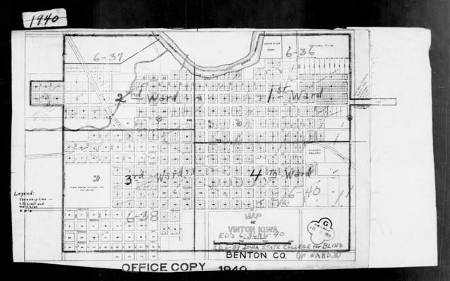 1940 Census Enumeration District Maps - Iowa - Benton County - Vinton - ED 6-36, ED 6-37, ED 6-38, ED 6-39, ED 6-40