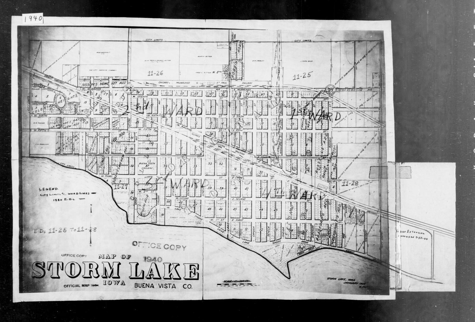 1940 Census Enumeration District Maps Iowa Buena Vista County