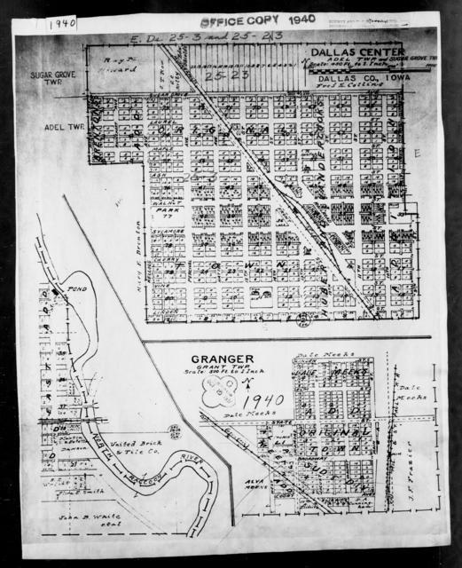 1940 Census Enumeration District Maps - Iowa - Dallas County - Granger - ED 25-14