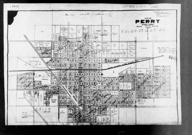 1940 Census Enumeration District Maps - Iowa - Dallas County - Perry - ED 25-19A, ED 25-19B, ED 25-20A, ED 25-20B, ED 25-21A, ED 25-21B