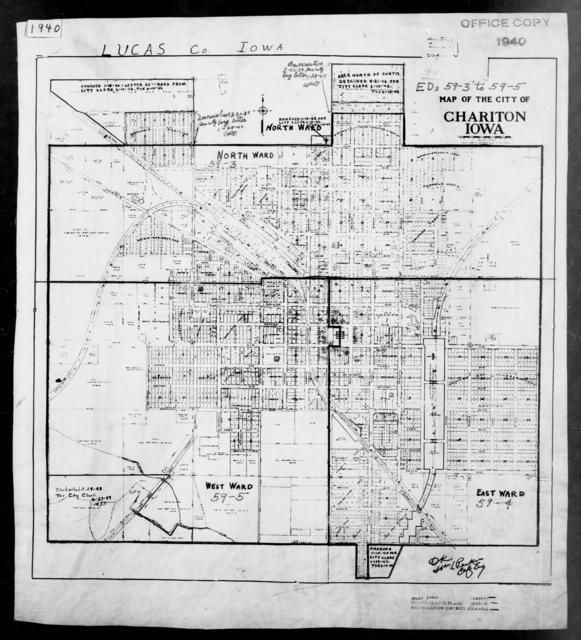 1940 Census Enumeration District Maps - Iowa - Lucas County - Chariton - ED 59-3, ED 59-4, ED 59-5