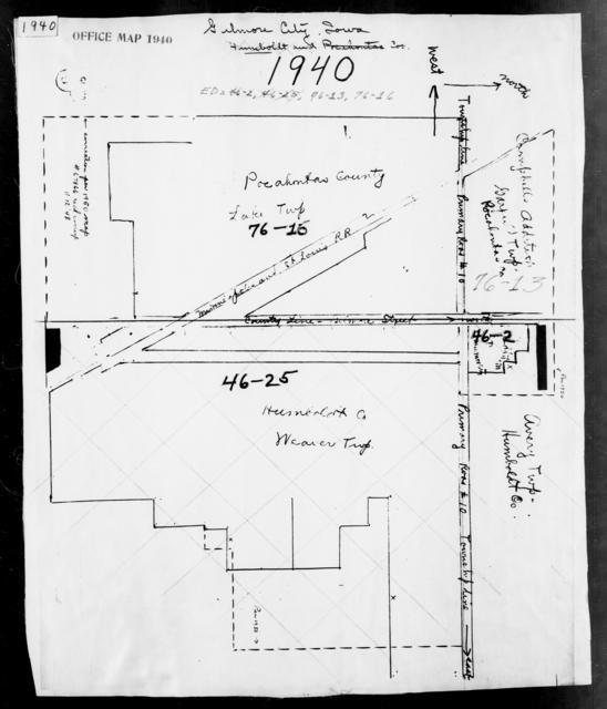 1940 Census Enumeration District Maps - Iowa - Pocahontas County - Grant