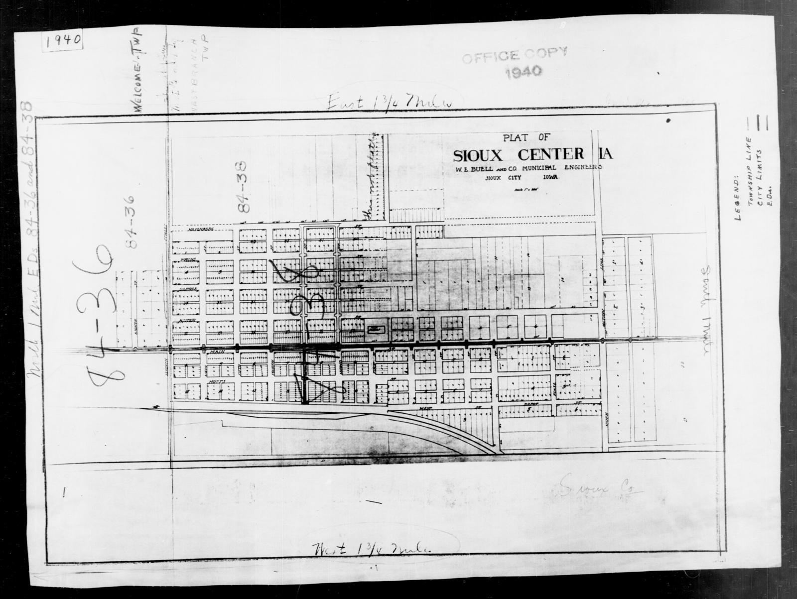 Sioux County Iowa Map.1940 Census Enumeration District Maps Iowa Sioux County Sioux
