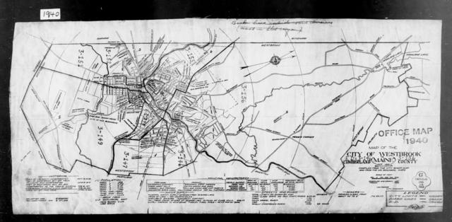 1940 Census Enumeration District Maps - Maine - Cumberland County - Westbrook - ED 3-146 - ED 3-156