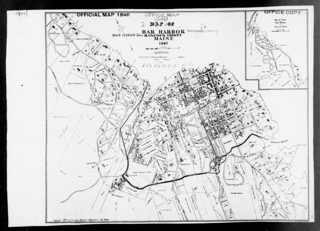 1940 Census Enumeration District Maps - Maine - Hancock County - Bar Harbor - ED 5-3, ED 5-4, ED 5-5, ED 5-6, ED 5-7, ED 5-78
