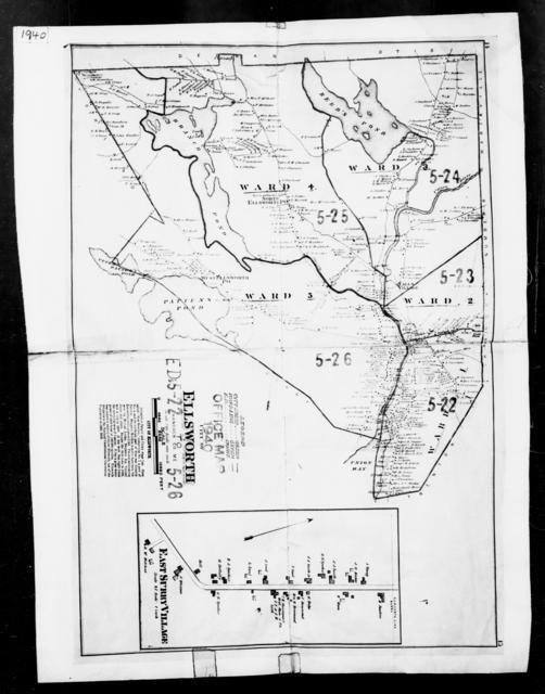 1940 Census Enumeration District Maps - Maine - Hancock County - Ellsworth - ED 5-22, ED 5-23, ED 5-24, ED 5-25, ED 5-26